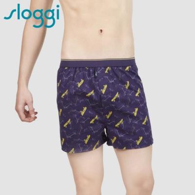 slogg slogg Men Skateboard滑板高手系列寬鬆平口褲 M-XXL 玩酷深藍色 90-503 V9