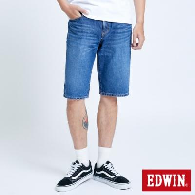 EDWIN 503 五袋式仿舊水洗 牛仔短褲-男-中古藍