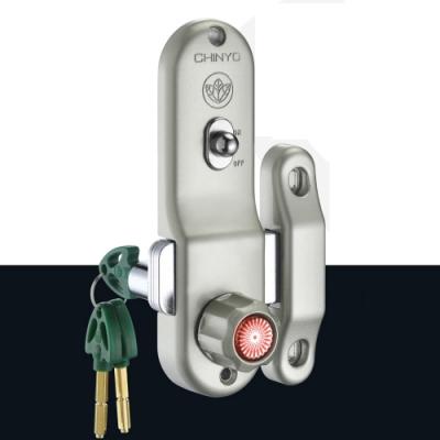 757 青葉牌鋁門鎖 1200型鋁門鉤鎖(鎖管長38mm 五面/心動鑰匙)推拉門鎖落地門鎖
