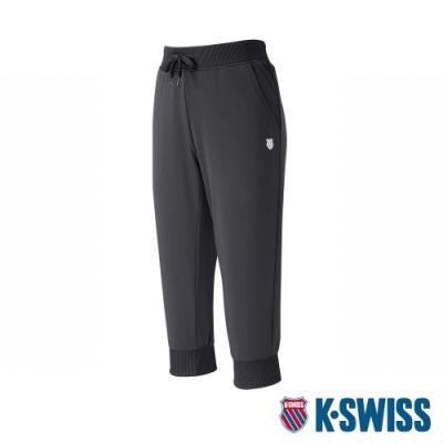 K-SWISS Basic Capri Pants運動九分褲-女-黑