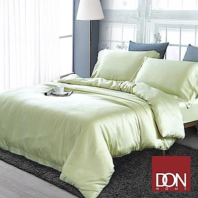 DON 加大四件式60支天絲被套床包組-青草黃