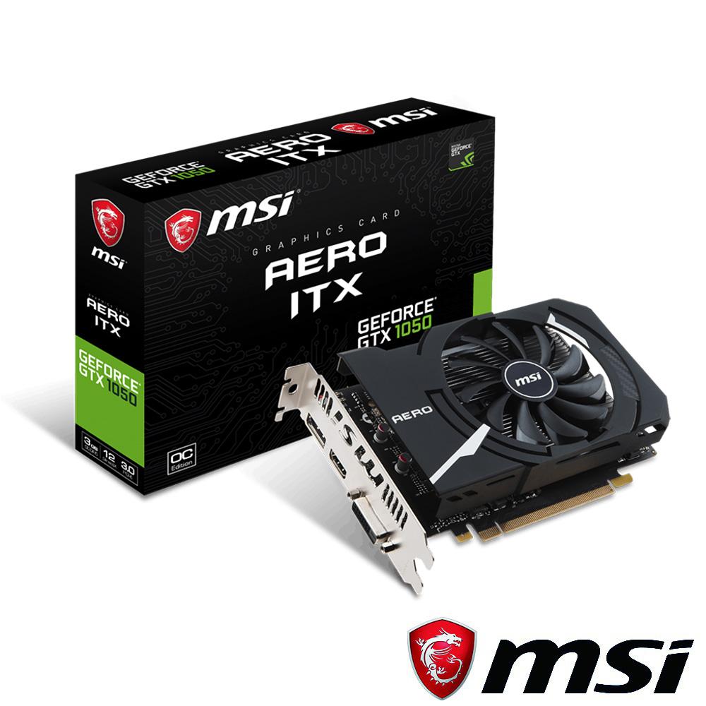 MSI微星 GeForce GTX 1050 AERO 3G OC 顯示卡