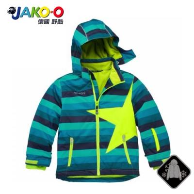 JAKO-O 德國野酷-經典星星雪衣外套-藍條 (兒童雪衣/滑雪)