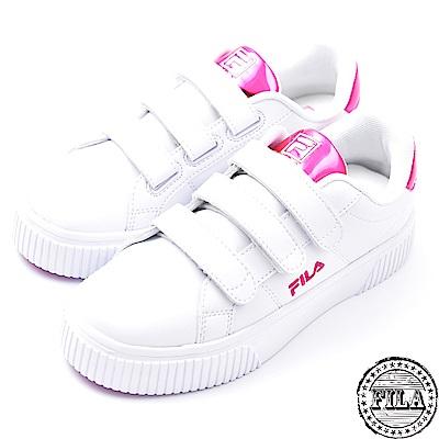 FILA女款韓版  厚底黏扣鞋 休閒鞋 5-C601S-900