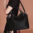 Maria Carla手提側背包-牛皮編織包_雙色特殊款_完美格調、迷漾輕時尚系列(經典黑