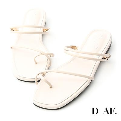 D+AF 夏氛嚴選.套指細帶2way平底涼鞋*米白