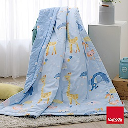 La Mode寢飾 動物嘉年華環保印染100%精梳純棉涼被(單人)