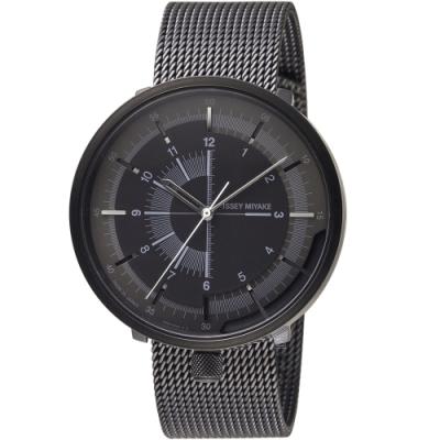 ISSEY MIYAKE三宅一生One-Sixth系列手錶(NYAK001Y)-黑