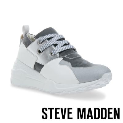 STEVE MADDEN-CLIFF 潮流款拼接時尚老爹鞋-絨灰色