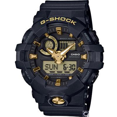 G-SHOCK  絕對強悍雙顯運動錶(GA-710B-1A9)