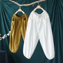 純棉百搭顯瘦鬆緊腰燈籠褲七分褲子四色可選-設計所在