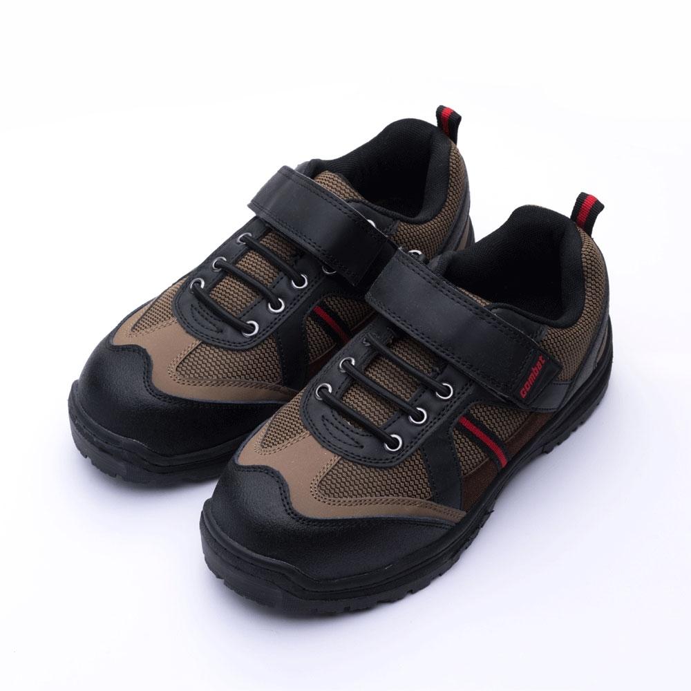 COMBAT艾樂跑男鞋-魔鬼氈工作鞋 鋼頭鞋-黑(FA491)