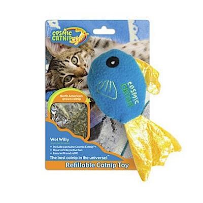 100%天然可填充貓草玩具 - 豆豆魚