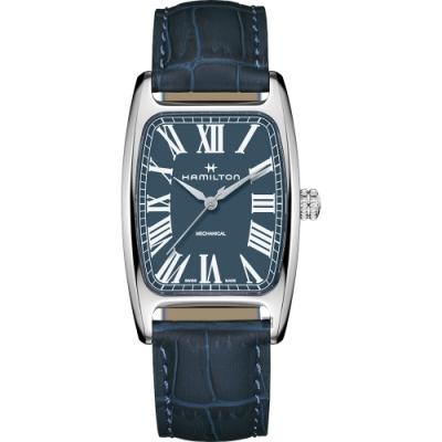 Hamilton 漢米爾頓 美國經典 柏登手上鍊機械錶-藍
