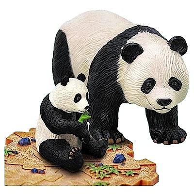 4D MASTER 立體拼組模型動物系列-親子貓熊