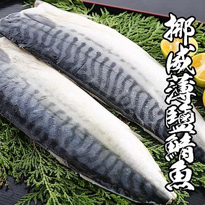 (團購組) 海鮮王 挪威薄鹽鯖魚 10片組( 140-160g±10%/片 )