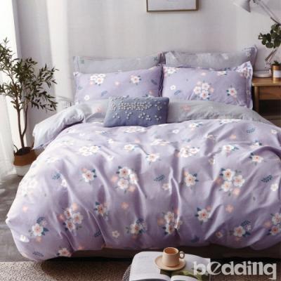 BEDDING-100%棉特大雙人8X7尺薄式被套-瑪琪朵-紫