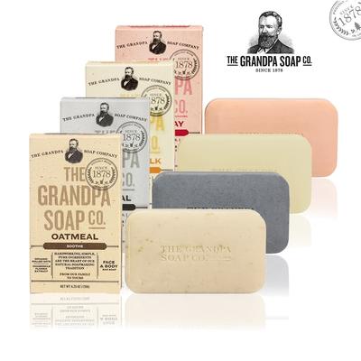 Grandpas Soap 神奇爺爺 專業嫩膚淨白組4入組 4.25oz x4(最短效期效期至2022.04)
