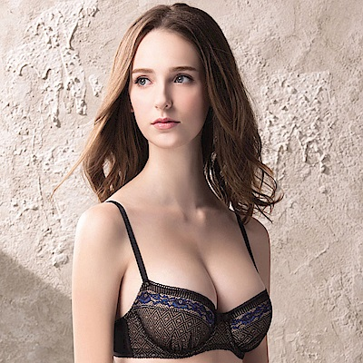 莎薇Btempd雙色蕾絲C-E罩杯內衣黑