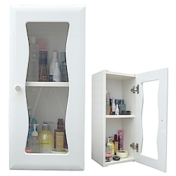 Abis 海灣單門加深防水塑鋼浴櫃/置物櫃-2色可選(1入)