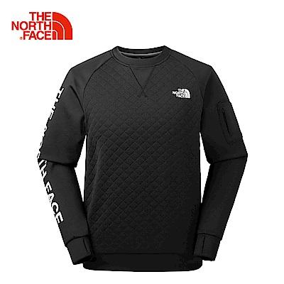 The North Face北面男款黑色透氣速乾舒適長袖T恤  3LBHJK3
