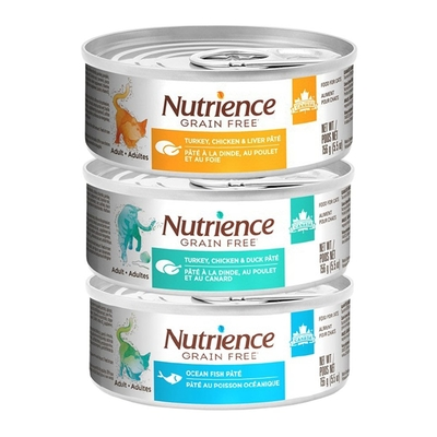 【12入組】Nutrience紐崔斯無穀養生貓罐 156g(5.5oz) 購買第二件贈送寵鮮食零食*1包