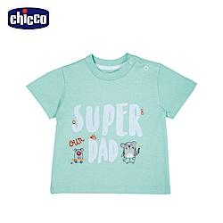 chicco-小熊家族-短袖上衣-綠