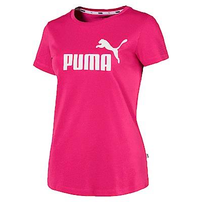 PUMA-女性基本系列No.1 Logo短袖T恤-甜菜紅-亞規