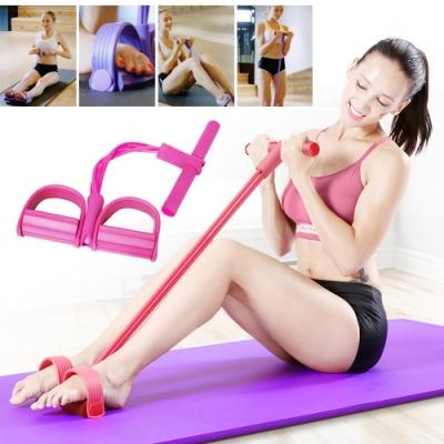 (贈運動襪)腳踏式縮腹拉力健身帶