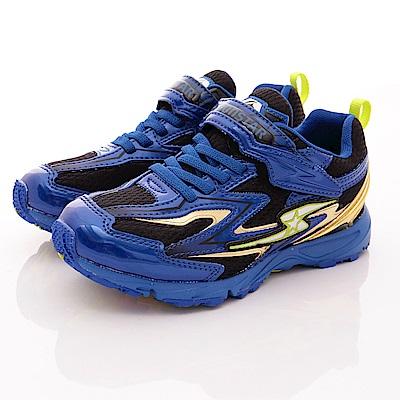 日本月星 頂級競速童鞋 2E閃電升級系列 7465 藍(中大童段)