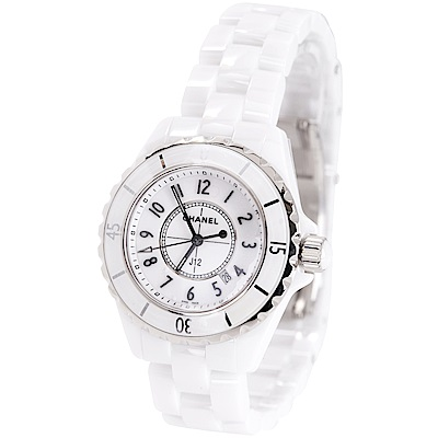 CHANEL J12 H0968 白色精密陶瓷精鋼腕錶-33mm