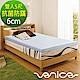 【Venice】雙人5尺 平面款-6cm日本抗菌防螨記憶床墊(藍色) product thumbnail 1