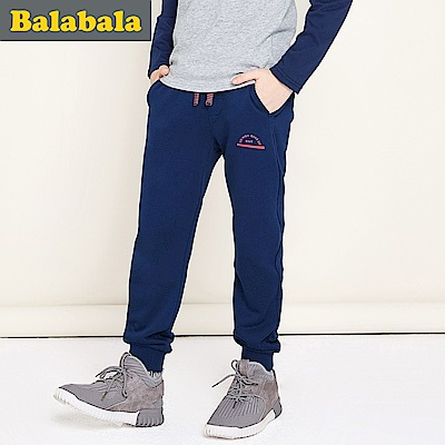 Balabala巴拉巴拉舒適彈性造型運動棉褲-男(4色)