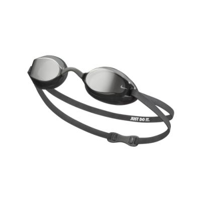 NIKE 成人 泳鏡 專業型鏡面 VAPOR 銀 NESSA178-040(男女泳鏡)