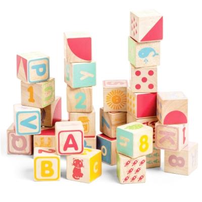 英國 Le Toy Van- Petilou系列啟蒙玩具系列-ABC六面聰明學習方塊啟蒙玩具