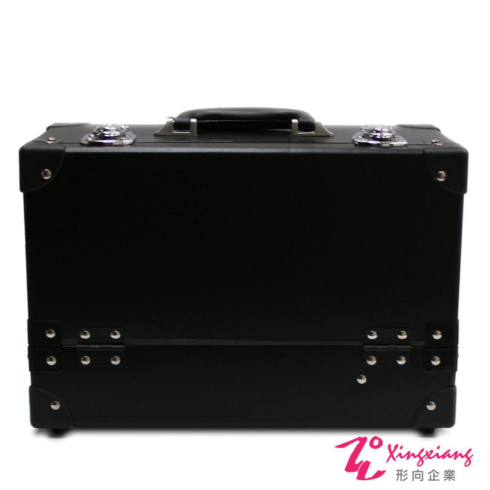 Xingxiang形向 紙纖素面黑單開三層化妝箱 6K-21