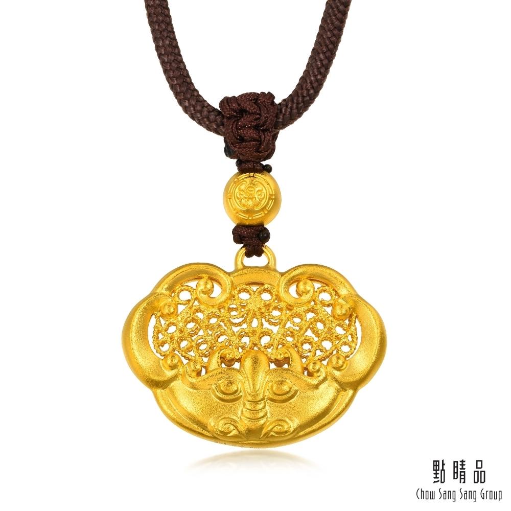 【點睛品】足金9999 東方古祖 如意吉祥 黃金項鍊_計價黃金