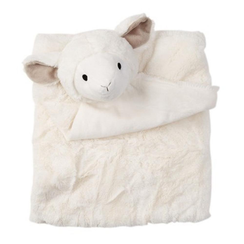 美國Quiltex 超柔軟動物嬰兒毯安撫毯 - 奶白小羊