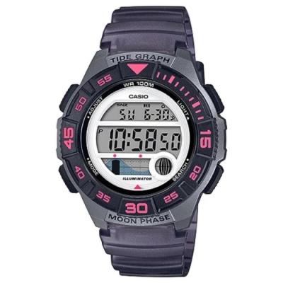 CASIO 潮汐與月相設計樂活休閒運動錶-灰(LWS-1100H-8A)40.6mm