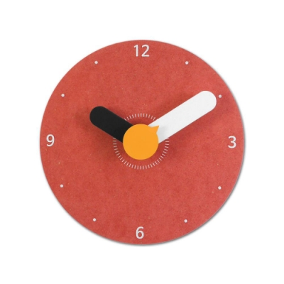 5吋 小巧居家 粉嫩簡約 北歐風 無印風 辦公室客廳臥室 靜音 圓掛鐘 - 粉紅色