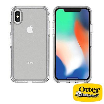 OtterBox iPhoneX炫彩幾何透明保護殼-冰雪晶透