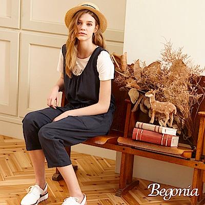 Begonia U領綁帶連身褲(共兩色)