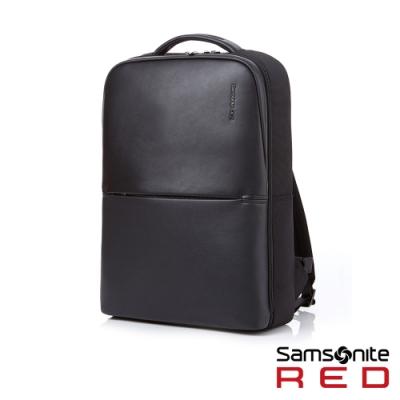 Samsonite RED NEUMONT 3 商務極簡皮革筆電後背包15.6吋(黑)