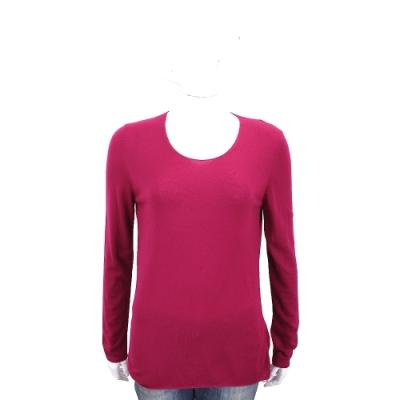 Andre Maurice 喀什米爾桃紅色素面羊毛衫