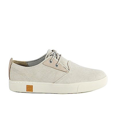 Timberland 男款喀什米爾色皮革淺口帆布鞋 | A1NIVK51