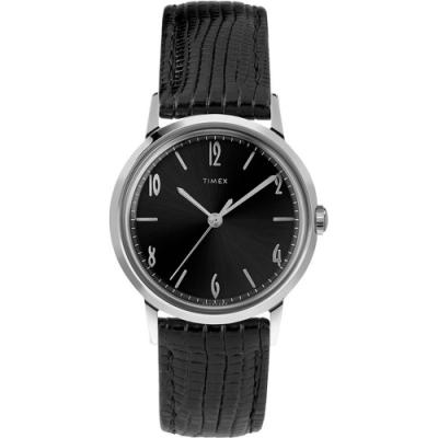 TIMEX 天美時 Marlin系列 紳士的象徵機械錶- 黑/34mm