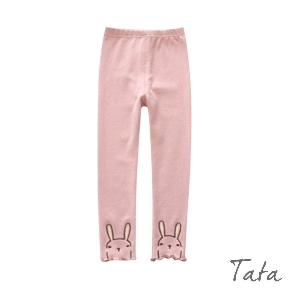 童裝 褲腳兔子刺繡內搭褲 共二色 TATA KIDS