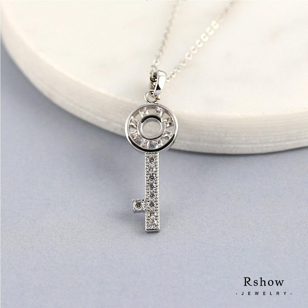 Rshow Mini Key 鑲崁方鑽項鍊