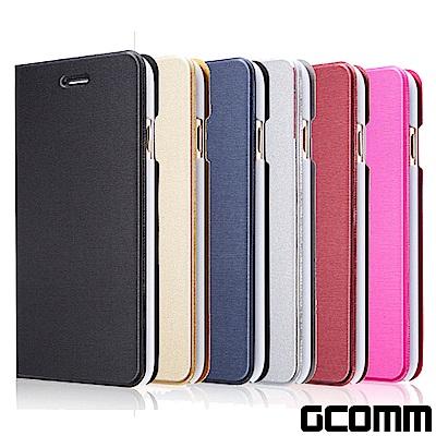 GCOMM iPhone 6S/6 金屬質感拉絲紋超纖皮套