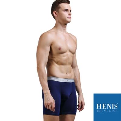 HENIS 貼彈壓力加長板 防磨機能四角褲 (寶藍)